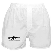 AR-15/M4 Complicated Life Boxer Shorts