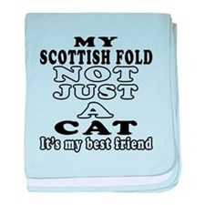 Scottish Fold Cat Designs baby blanket