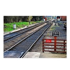 Beware of trains Postcards (Package of 8)
