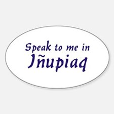 Speak to me Oval Decal