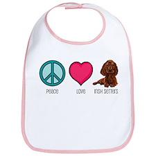 Peace Love & Irish Setters Bib