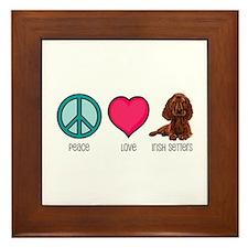 Peace Love & Irish Setters Framed Tile