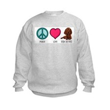 Peace Love & Irish Setters Sweatshirt