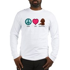 Peace Love & Irish Setters Long Sleeve T-Shirt