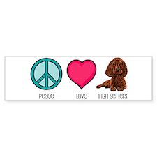 Peace Love & Irish Setters Bumper Bumper Sticker