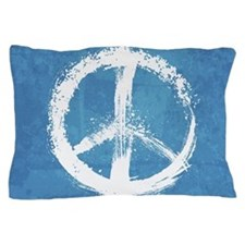 Grunge Peace Sign Pillow Case