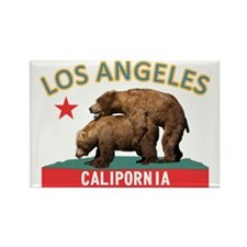 CP Los Angeles blue&gold Rectangle Magnet