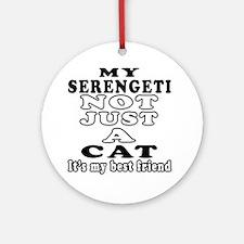 Serengeti Cat Designs Ornament (Round)