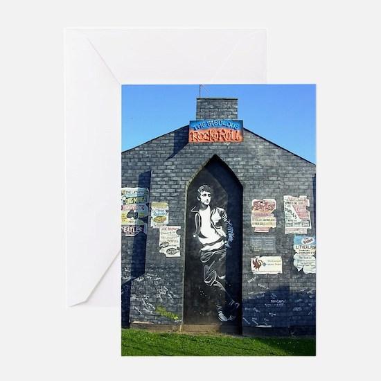 John Lennon Mural, Liverpool UK Greeting Card