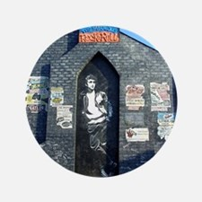 "John Lennon Mural, Liverpool UK 3.5"" Button"