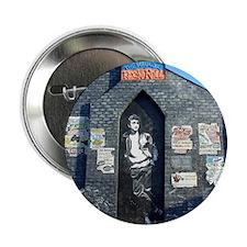 """John Lennon Mural, Liverpool UK 2.25"""" Button"""