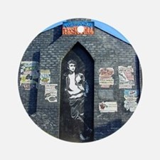 John Lennon Mural, Liverpool UK Round Ornament