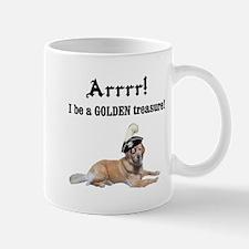 Golden retriever pirate Mug