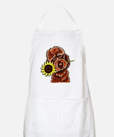 Sunny Chocolate Labrodoodle Apron
