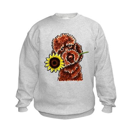 Sunny Chocolate Labrodoodle Sweatshirt