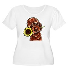 Sunny Chocolate Labrodoodle Plus Size T-Shirt