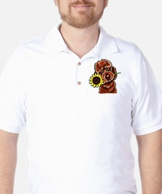 Sunny Chocolate Labrodoodle Golf Shirt