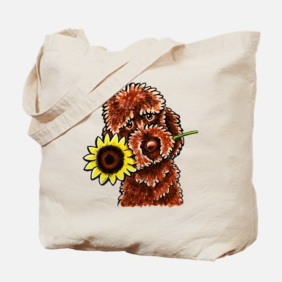 Sunny Chocolate Labrodoodle Tote Bag