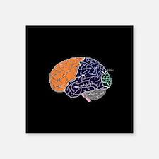 dr brain lrg d button Sticker