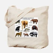 Endangered Animals of Sumatra Tote Bag