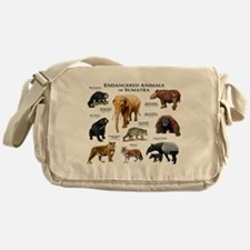 Endangered Animals of Sumatra Messenger Bag
