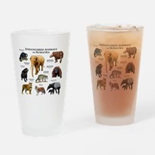 Endangered Animals of Sumatra Drinking Glass