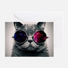Space cat Greeting Card