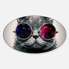 Space cat Sticker (Oval)