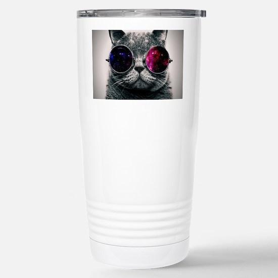 Space cat Stainless Steel Travel Mug