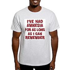 Amnesia, Ash Grey T-Shirt