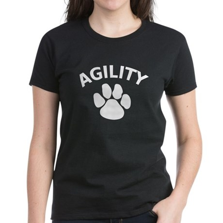 Dog Agility Paw Women's Dark T-Shirt