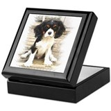 Cavalier king charles Square Keepsake Boxes