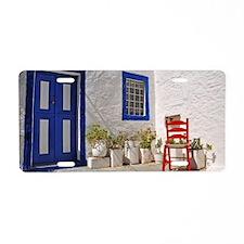 Greek house Aluminum License Plate