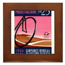 Vintage 1968 Italy Bicyle Velodrome Postage Stamp