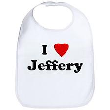 I Love Jeffery Bib