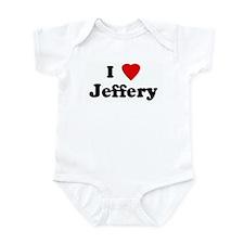 I Love Jeffery Infant Bodysuit
