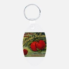 Vintage Fruit Vegetable Crate Label Keychains