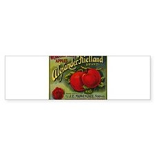 Vintage Fruit Vegetable Crate Label Bumper Bumper Sticker