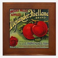 Vintage Fruit Vegetable Crate Label Framed Tile