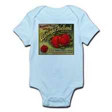 Vintage Fruit Vegetable Crate Label Body Suit