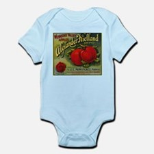 Vintage Fruit Vegetable Crate Label Body Suit