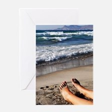 Relaxing feet Greeting Card