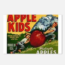 Vintage Fruit Vegetable Crate Label Postcards (Pac