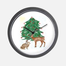 Forest Christmas Wall Clock