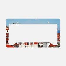 Lisbon cityscape with Se Cath License Plate Holder