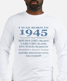 Birthday Facts-1945 Long Sleeve T-Shirt