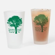 Plant a Tree Now Drinking Glass