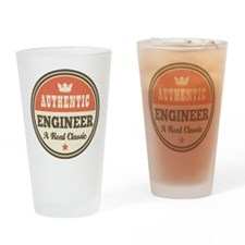 Vintage Engineer Classic Drinking Glass