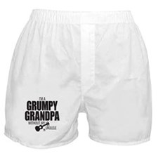 Grumpy Grandpa Uke Boxer Shorts