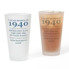 Birthday Facts-1940 Drinking Glass